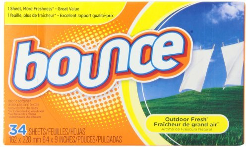 Bounce Outdoor Fresh Fabric Softener Sheets, 34 sheets by (Procter And Gamble Bounce Fabric)