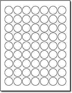 Amazon Com Pack Of 1008 1 Inch Diameter Round Dot Labels White