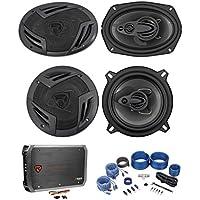 2) Rockville RV69.4A 6x9 Speakers+2) 5.25 Speakers+4-Channel Amplifier+Amp Kit