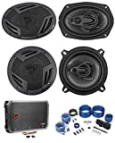 2 Rockville RV69.4A 6x9 Speakers+2 5.25'...