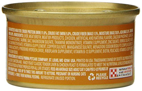 Purina Fancy Feast Classic Gourmet Wet Cat Food - (24) 3 oz. Cans