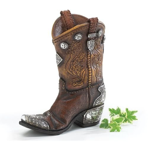 Boots and Spurs Western Cowboy Boot Vase for Western Home Decor - Set of (Cowboy Boot Vase)