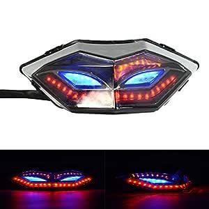 Luces traseras LED para motocicleta con intermitente para ...