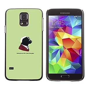 CASEX Cases / Samsung Galaxy S5 SM-G900 / Gangster Skunk Animal - Funny # / Delgado Negro Plástico caso cubierta Shell Armor Funda Case Cover Slim Armor Defender