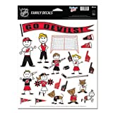 Wincraft NHL New Jersey Devils Family Decal Sheet, 8.5 x 11