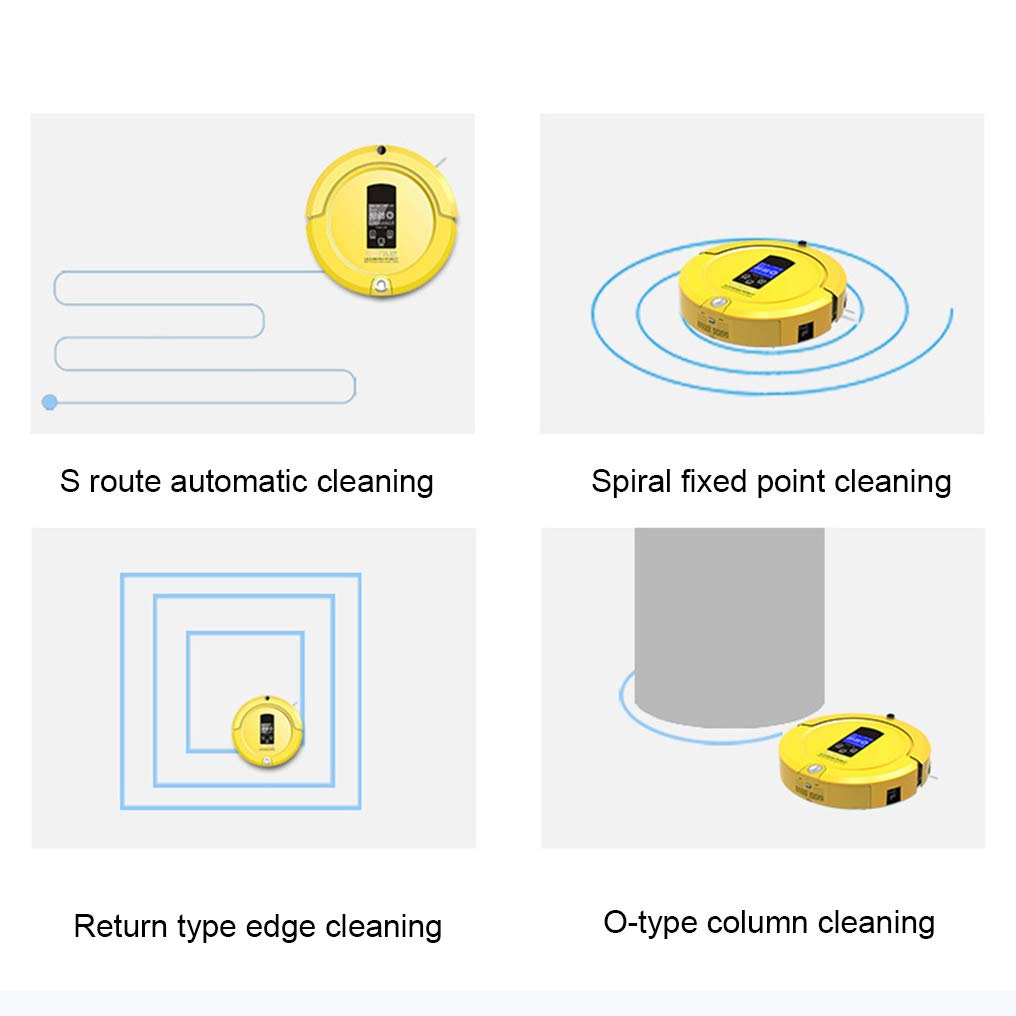 RLUJIUSR Robot Aspirador con 4 Modos De Limpieza Sensores ...