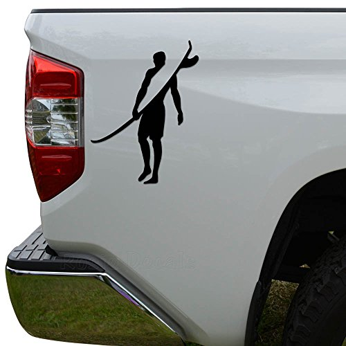 Rosie Decals Hawaii Surfer Surfing Die Cut Vinyl Decal Sticker for Car Truck Motorcycle Window Bumper Wall Decor Size- [6 inch/15 cm] Tall Color- Matte Black