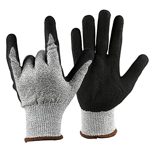 - LIUFENGLONG Gardening Gloves Cut-Proof Non-Slip Gardening Gloves Stab-Resistant Wear-Resistant Dipped Rubber Work Gloves Wearable and Comfortable Breathable Gloves (Size : L)