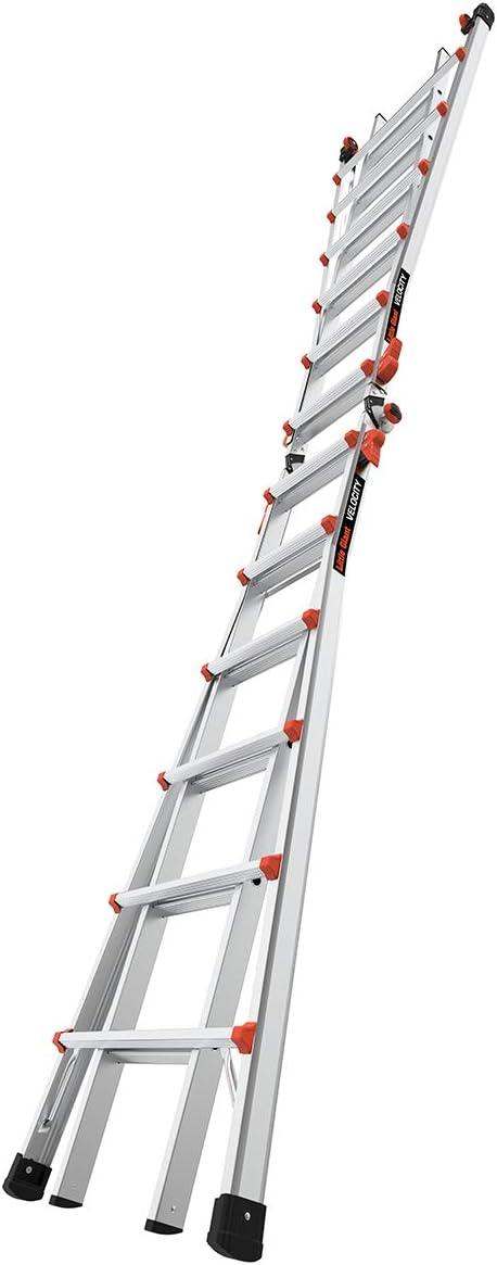 Escaleras gigantes, velocidad con ruedas, M26, 13-23 pies, escalera multiposición, aluminio, tipo 1A, peso de 300 libras, (15426-001): Amazon.es: Bricolaje y herramientas