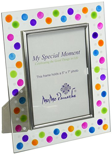 Momo Panache Jazzi Glass Frame  Holds 5 Inch By 7 Inch Picture