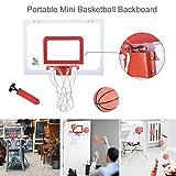 Ywoow Mini Basketball Hoop Over-The-Door Basketball Backboard Indoor Outdoor Sports US Warehouse...