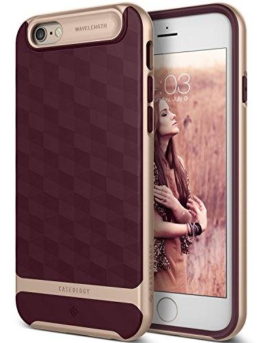 Solid Dark Blue Case Cover - Caseology Parallax Series iPhone 6S Cover Case with Design Slim Protective for Apple iPhone 6S (2015) / iPhone 6 (2014) - Burgundy
