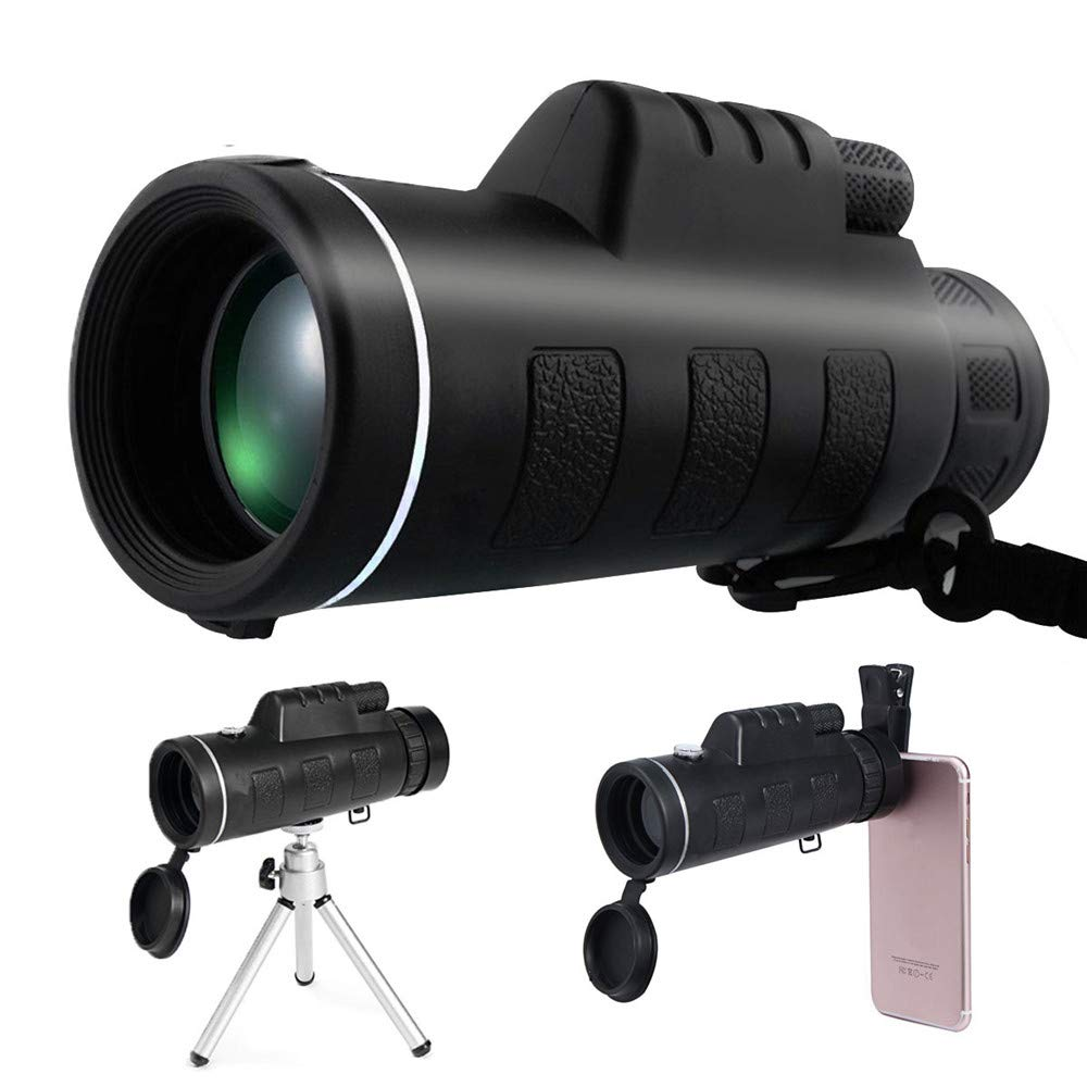 P&F HIGH QUALITY PRODUCTS Telescope with Bracket Clip with Compass 40x60 Times Mobile Telescope monocular HD Telescope Hiking Camping Sightseeing by P&F HIGH QUALITY PRODUCTS