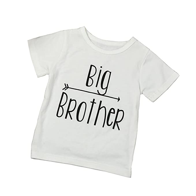 "Vovotrade ""Big Brother"" Niños bebé hermano mayor Blusa camiseta de manga corta de"