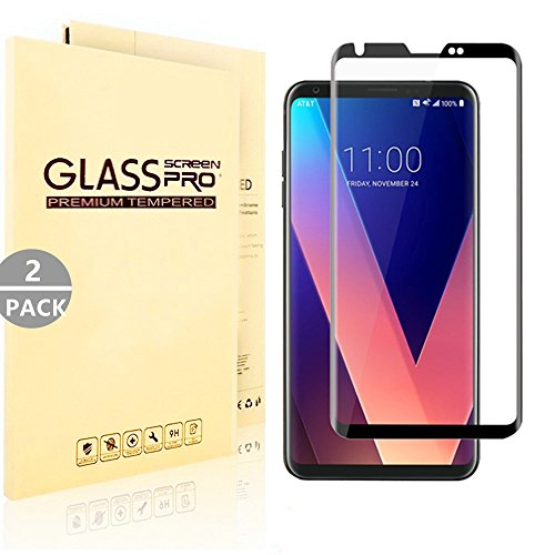 Price comparison product image [2pack] LG V30 Screen Protector,  Wtbone - [3D Full Curved Edge] [Black]Ultra Clear / Bubble Free / Scratch Resistant / Easy to Install Screen Protector For LG V30 / LG V30+ / LG V30 Plus