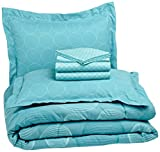 AmazonBasics 7-Piece Bed-In-A-Bag, Full/Queen, Industrial Teal - Best Reviews Guide