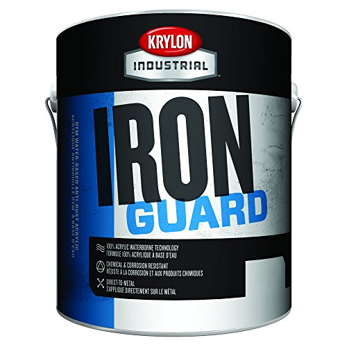 Iron Black Enamel - Krylon Industrial K11001131 IRON GUARD Water-based Acrylic Enamel, Black, High Gloss, 1 gallon