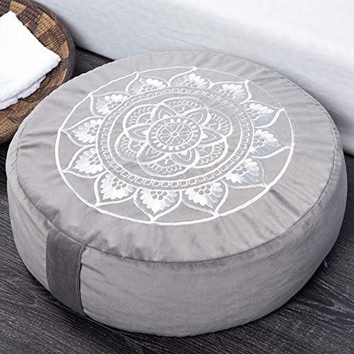 Florensi Cojín de meditación (40,6 x 40,6 x 12,7 cm), almohada de meditación de terciopelo grande, almohada de yoga premium para mujeres y hombres, cojín de yoga, almohadas de meditación para sentarse en el piso, cojines de meditación de trigo sarraceno 3