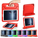 CAM-ULATA for New iPad 9.7 Case 2017 Model iPad Air Air 2 Cover EVA with Handle for kids boys Girls Lightweight Red