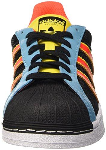 Adidas Superstar - B42623 Nero-blu-arancio