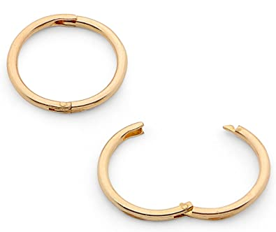 365 Sleepers 1 Pair 22ct Gold Plated Solid Sterling Silver 8mm