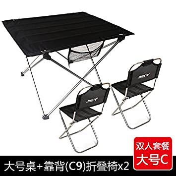 Xing Lin Outdoor Table Outdoor Barbecue Picnic Table Chair Portable Beach  Folding Table Light Aviation Aluminum