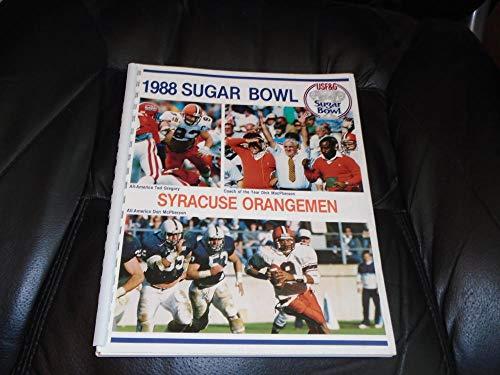 1988 SYRACUSE SUGAR BOWL COLLEGE FOOTBALL MEDIA GUIDE NR MINT (Syracuse Bowl Cotton)