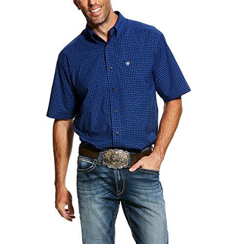 ARIAT Men's Gansen Short Sleeve Stretch Performance Shirt (X-Large) Ariat Short Sleeve Shirt