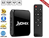 JYDMIX Android TV Box 2GB RAM 16GB ROM Media Player with WiFi/Bluetooth 4.0/USB Port, Supporting 4K Ultra HD/3D/H.265, Make Your TV Android