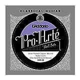 D\'Addario SNX-3B Pro-Arte Silver Plated Copper on Nylon Core Classical Guitar Half Set, Extra Hard Tension