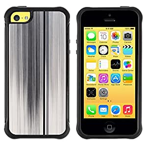 LASTONE PHONE CASE / Suave Silicona Caso Carcasa de Caucho Funda para Apple Iphone 5C / Lines White Foggy Glass Abstract Clean