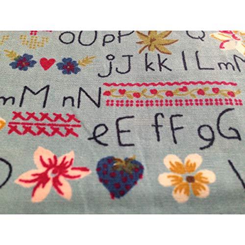 Mouchoir Boutique Femme Unique Taille Blau Alphabet Multicolore 67FxqfZw
