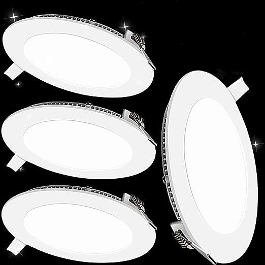 Pack 4x Downlight LED Led Panel light Redondo 12W 6500K blanco ...