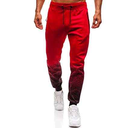 Amazon.com: Beautyfine Fashion Drawstring Pants Mens ...