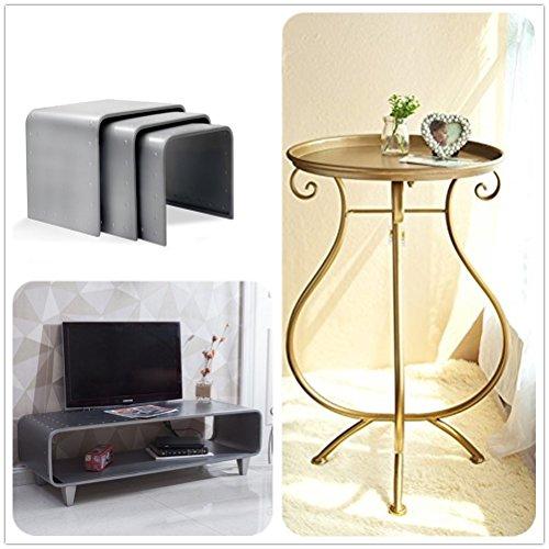 Dipamkar Gold Gilt Vintage Metal Garden Table Tea/Coffee Table Side Table Tray Table