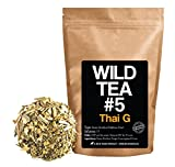 Green Rooibos Tea with Ginger, Lemongrass and Lime, All-Natural Organically Grown Ingredients - Wild Tea #5 Loose Leaf Rooibos Tea (8 ounce)