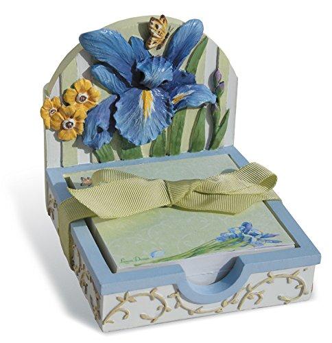 Lissom Design Memo & Pen Holder Giftset, Fresh Cut Iris
