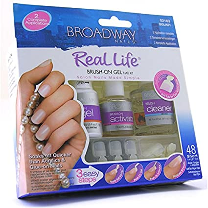 Broadway Nails Brush-On Gel Nail Kit by Kiss Products, Inc.: Amazon ...