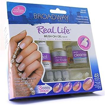 Amazon Broadway Nails Brush On Gel Nail Kit Nail Care