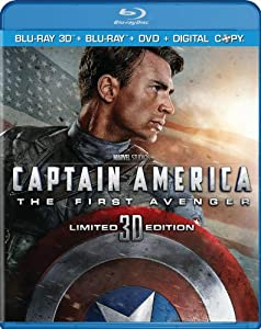 Cover Image for 'Captain America: The First Avenger (Three-Disc Combo: Blu-ray 3D / Blu-ray / DVD / Digital Copy)'