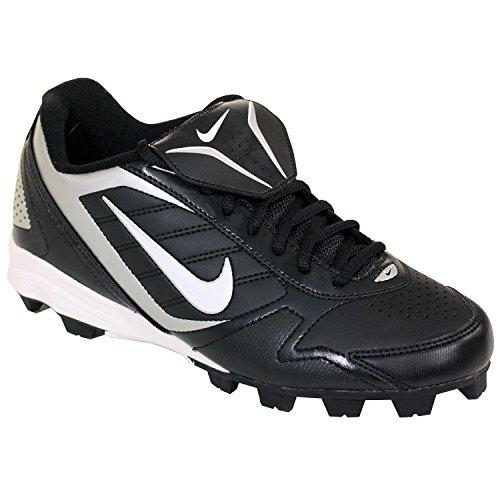 Nike Men's Ketstone Low Baseball Cleat Black/Silver (6.5)