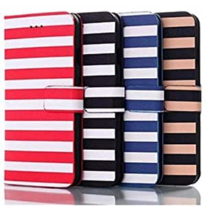 FJM Cross Stripe Pattern Leather Hard Cover for iPhone 6 Plus(Assorted Colors) , Blue