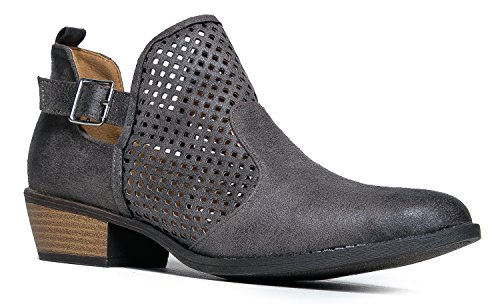 cute-western-distressed-cowboy-perforated-laser-cut-out-bootie-womens-pointed-toe-slip-on-ankle-boot