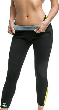 AIVEI Pantalon de Sudation Femme Legging Minceur N/éopr/ène Transpiration Sauna Pants pour Perte de Poids Fitness Sport Gym Minceur Jambe Pantalon Hip Up