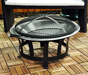 Kingfisher Outfire Fire Pit Bbq Amazon Co Uk Garden