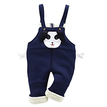 a7e9e386caa Amazon.com  Cute Cartoon Dog Pant Legging For Toddler Kids Baby Girls Boys  Warm Thick Winter Crimping Strap Overall Trousers Clothes (Age 2-3Years