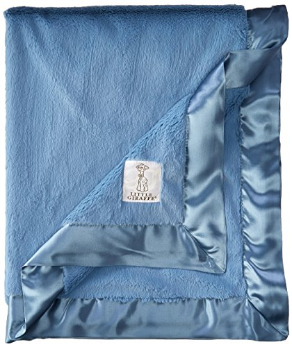 Little Giraffe Luxe Blanket Cornflower product image