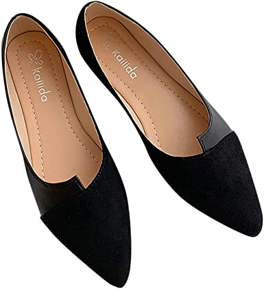 Womens Shoes Sandals Ladies Summer Low cut Pointed toe Casual Slip on Office