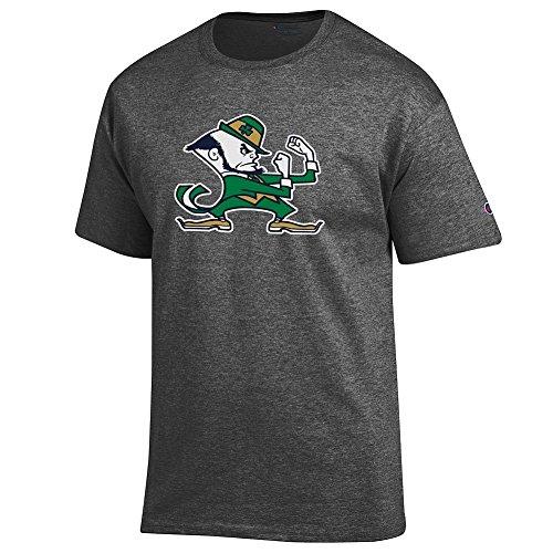 Dame Fighting Irish Tshirt Leprechaun Charcoal - L ()