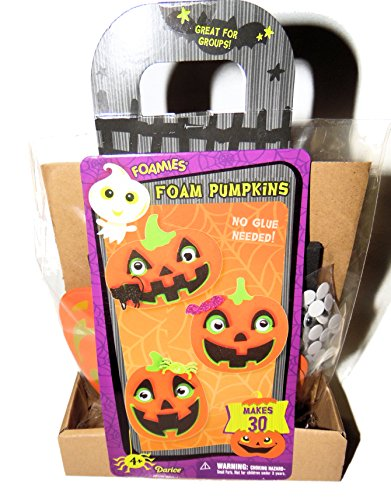 Foam Jack o lanterns Pumpkins Halloween Decorations Foam Activity Kit Art Project makes 30